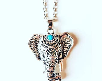 Elephant Head Necklace Good Luck Boho Trendy