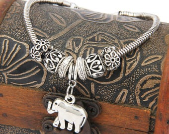 Bead Antique Elephant/Hamsa Head Bracelets Pendant Jewelry