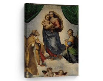 Fine Art Prints Virgin Mary Madonna /& Child Sistine Chapel Catholic Art Raphael Wall Art