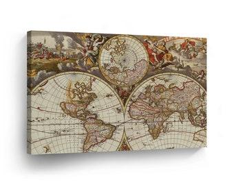 Decorative World Map Etsy
