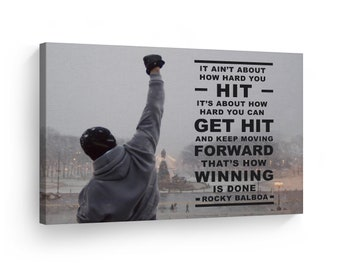 4 ROCKY BOXING PICTURE INSPIRATIONAL QUOTE PRINT MOTIVATIONAL POSTER