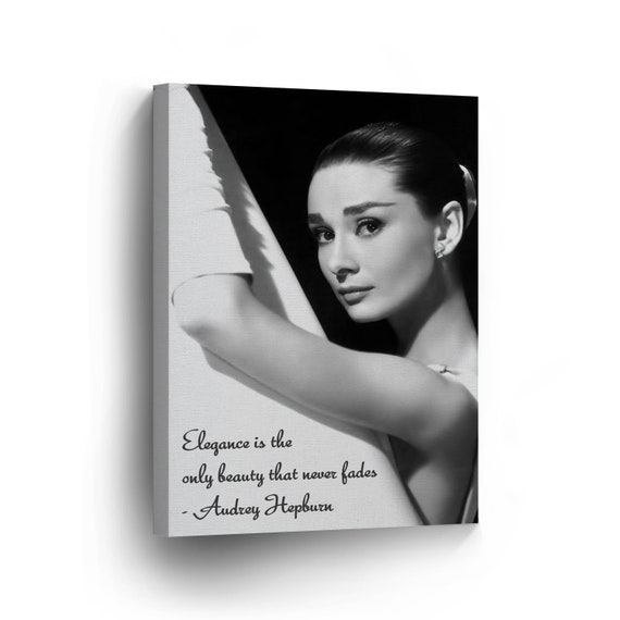 Audrey Hepburn Quote Stretched Canvas Wall Art Movie Poster Print Painting Icon