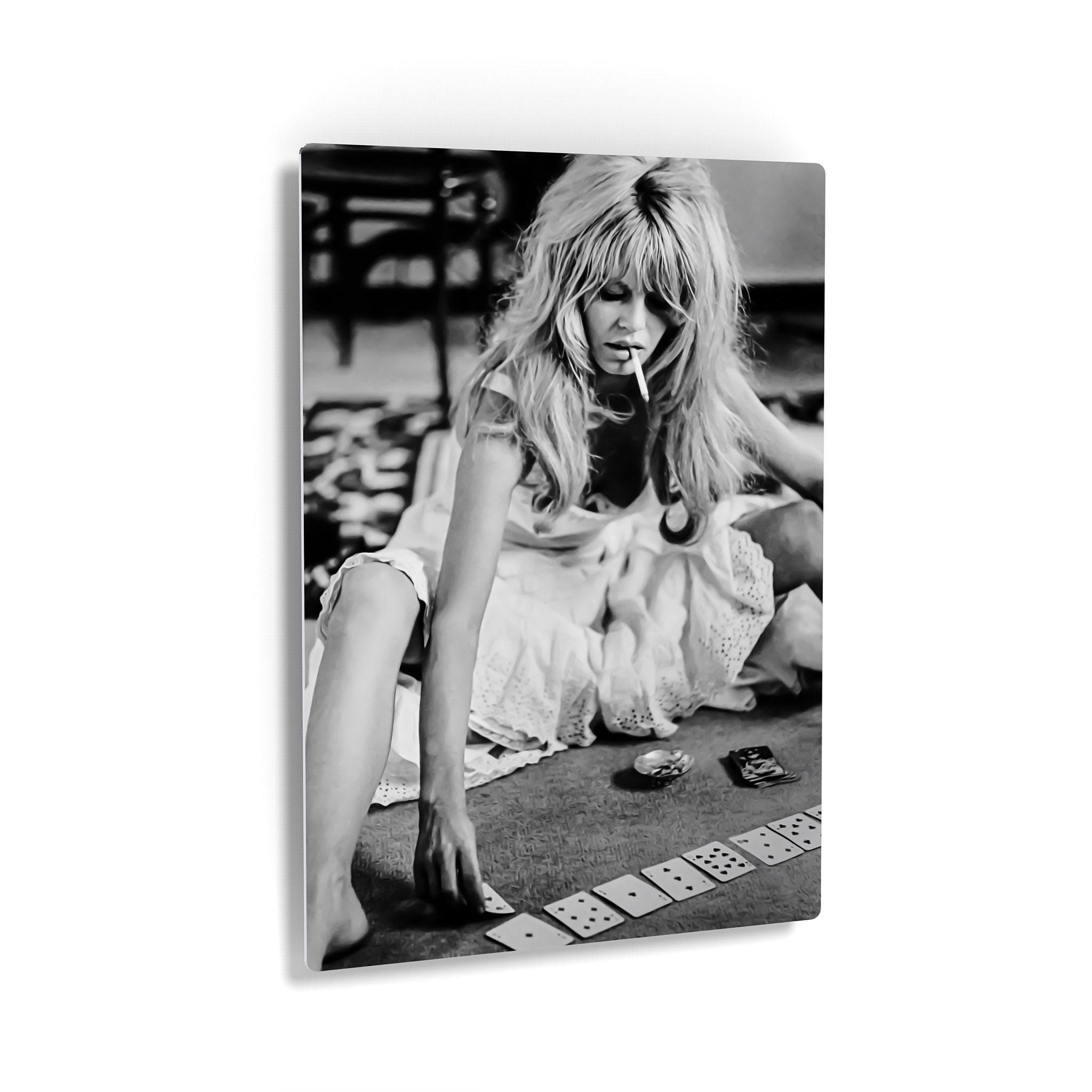 Brigitte Bardot Poster Brigitte Bardot Playing Cards Vintage Photo Wall Art