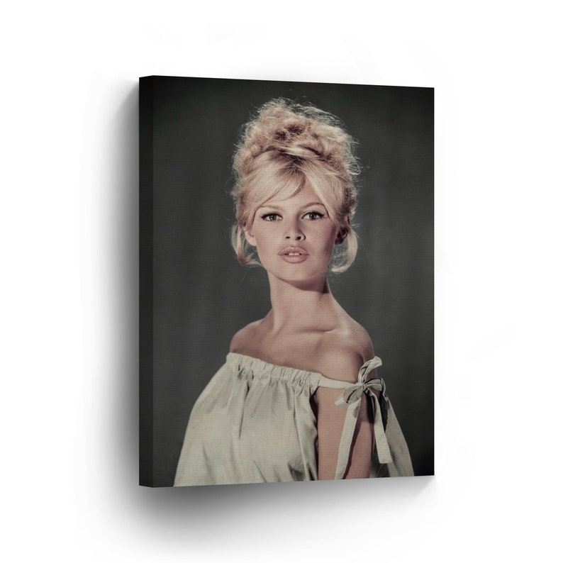 Brigitte Bardot In 1960 Colored Wall Art Canvas Print Sexy Etsy
