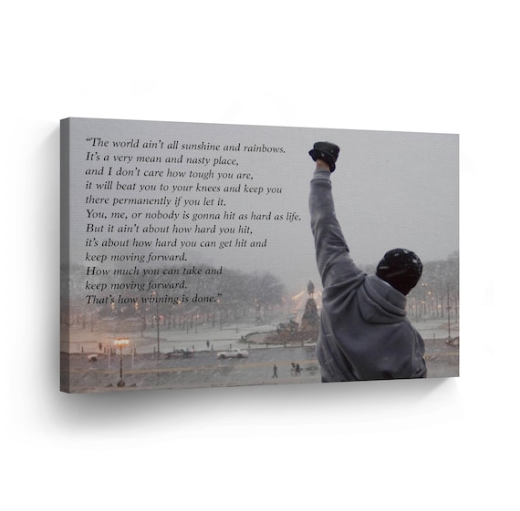 Rocky Balboa Motivational Quote Canvas Print Wall Art Motivational Quote Hope Artwork Sylvester Stallone Living Room Home Decor Wall Art
