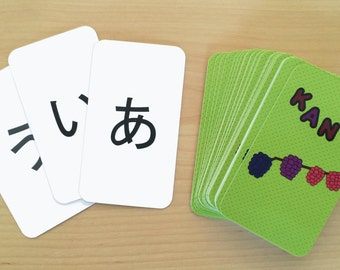 graphic relating to Hiragana Flash Cards Printable identify Jap flashcards Etsy