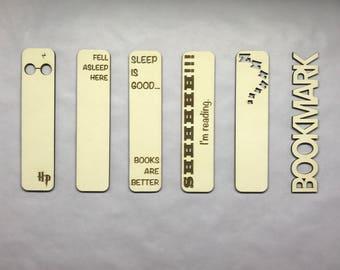 Personnalisé de marque-page | Marque-page | En bois | Acrylique | Unique | Nom | Sur mesure | Cadeau | Découpés au laser | Lecture | Gravé | Personnalisé
