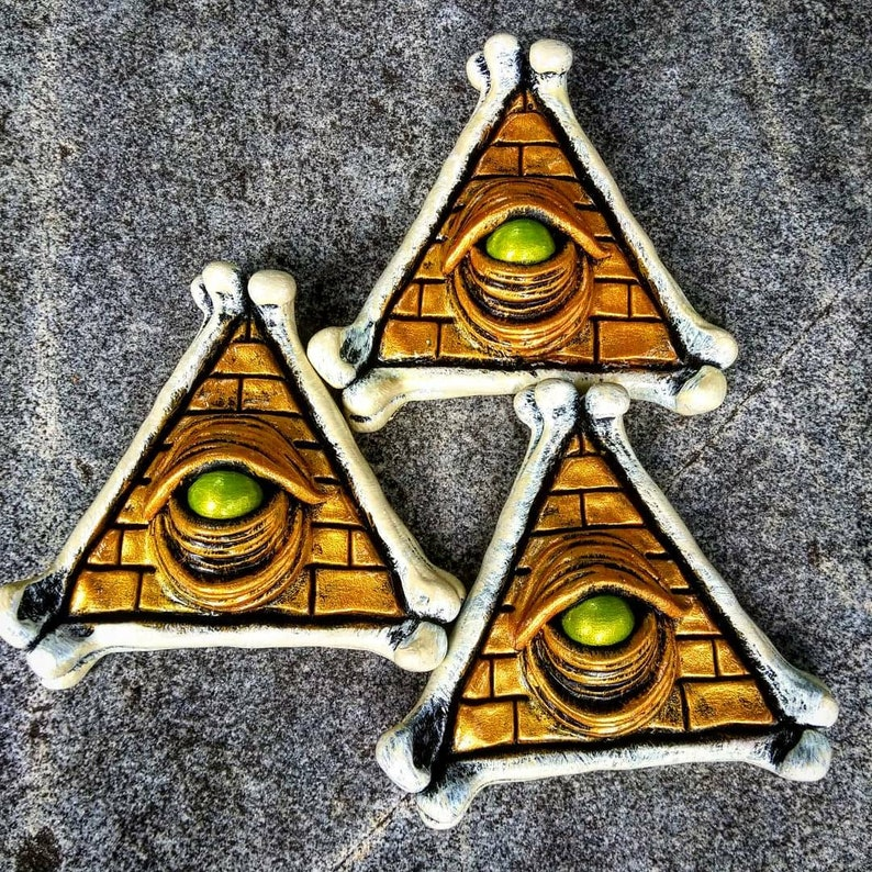 All Seeing Eye Refrigerator Magnet by Wicked Wall Masks image 0