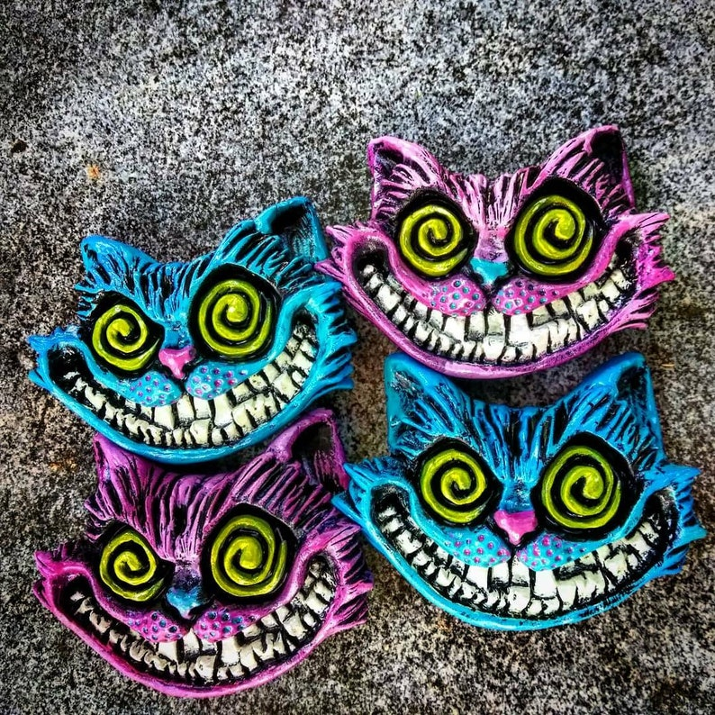 Cheshire Cat Refrigerator Magnet by Wicked Wall Masks image 0