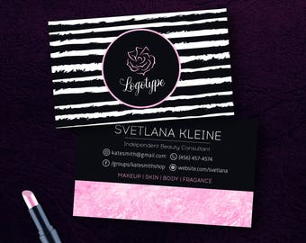 Mary Kay Business Cards, Free Personalized, Beauty Consultant Cards,  Printable, For Vistaprint Or Home Printing