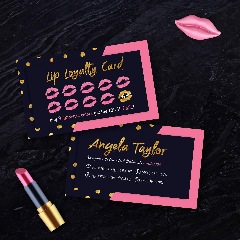 Lipsense Punch Cards Senegence Loyalty Card Lip Loyalty Etsy