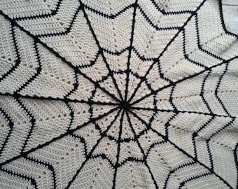 Spider Web Blanket Crochet Pattern Halloween Blanket Crochet Etsy
