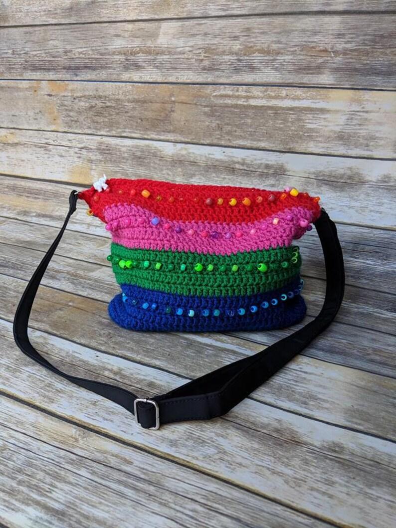 Beaded Crochet Bag Pattern Cross Body Bag Crochet Pattern Etsy