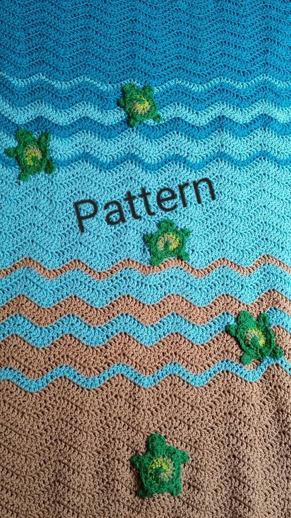 Sea Turtle Blanket Crochet Pattern Sea Turtle Gifts Beach Lovers Gift Magnificent Crochet Turtle Blanket Pattern