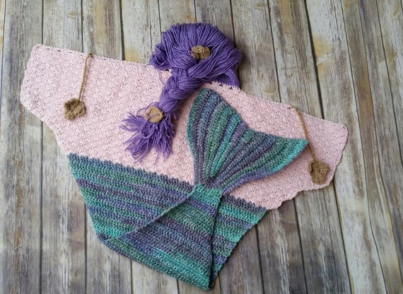 Mermaid Hooded Blanket Crochet Pattern Etsy