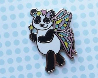 Fairy Panda Enamel Pin | Lapel Pin | Magical Fairy Panda Badge