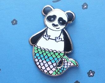 MerPanda Enamel Pin | Lapel Pin | Mermaid Panda Badge