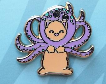 Octo-puss Enamel Pin | Lapel Pin | Octopus Cat Badge
