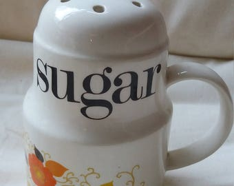 Vintage Crown Derby sugar sifter by Mary Quant, 1970s, retro