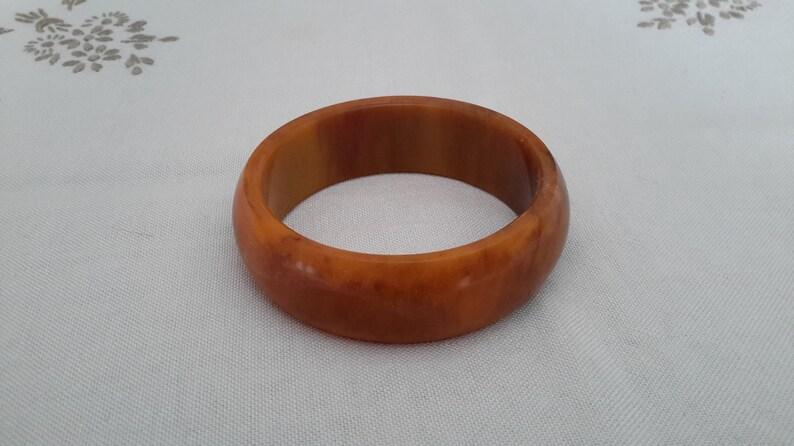 marbled brown vintage Bakelite bangle vintage Bakelite bracelet Bakelite bangle smoky cuff bracelet