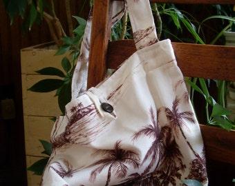Barkcloth Market Bag - Medium