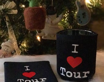 I heart Tour coozies!!! 2 for 5.00