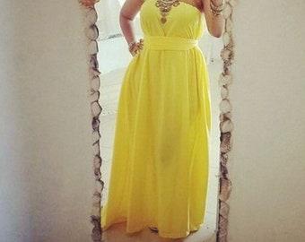 Vintage Strapless Maxi Dress