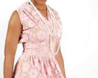 Vintage Lace Overlay Dress