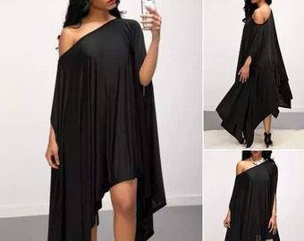 Off Shoulder Cape Dress