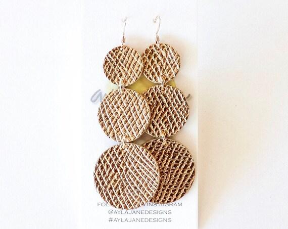 Pom pom earrings, pom pom inspired, leather earrings, statement earrings, drop earrings