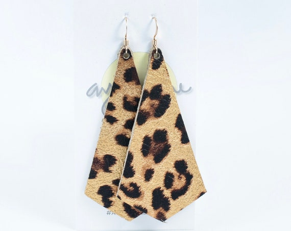 Leopard earrings, metallic leopard earrings, leopard earrings, modern leopard earrings