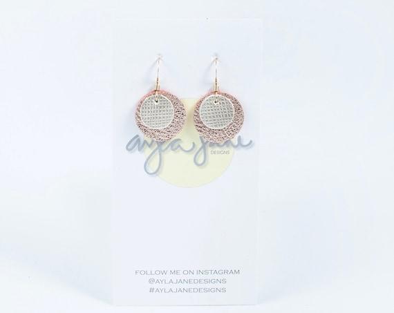 Petit drop earrings, statement earrings, petit leather earrings