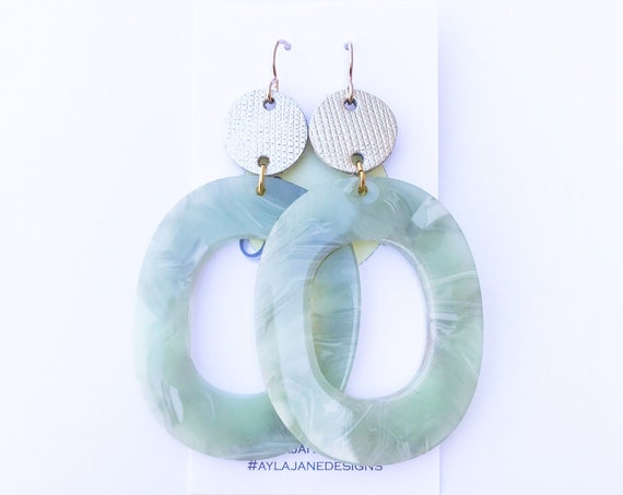 Acrylic Earrings, Statement Earrings,  Earrings