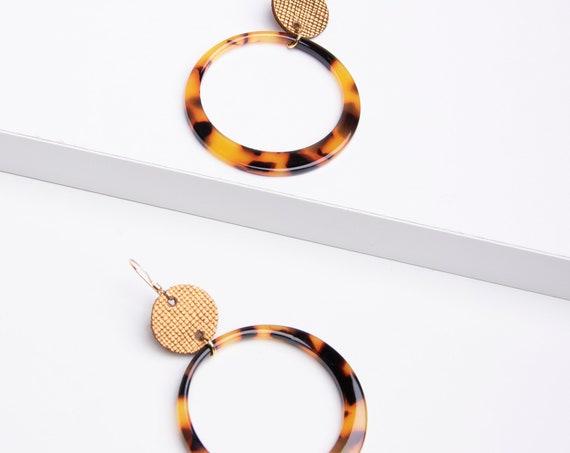 Resin Hoop Earrings, Acrylic Earrings, Statement Earrings, Hoop Earrings