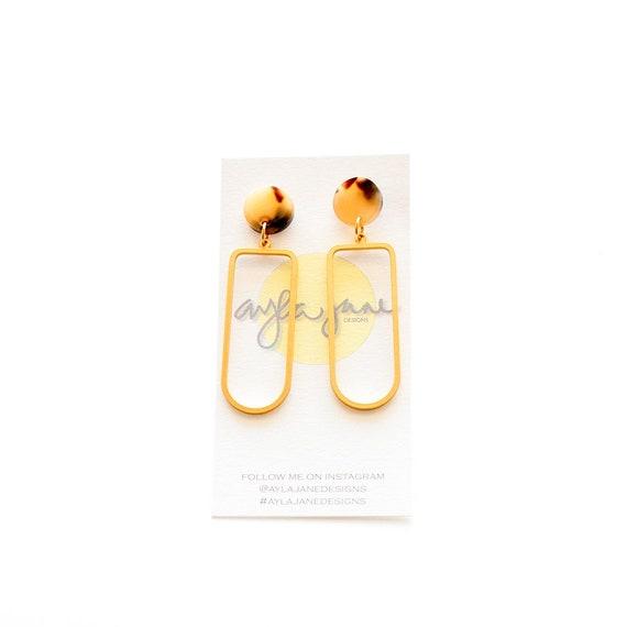 Minimalist earrings, Gold vermeil earrings