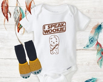 I Speak Ewokese Star Wars Ewok Funny Baby Clothes Baby Girl//Boy Unisex onesie