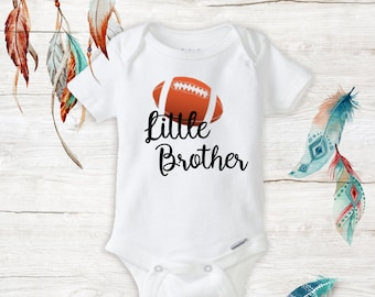 428ccf51aee4b Little Brother Football Onesie - baby football outfit - baby boy onesies - newborn  boy clothes - Baby Shower Gifts for Boys - Infant