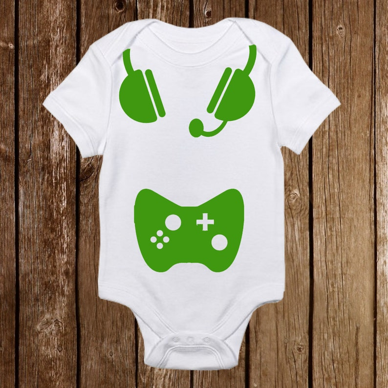 d451b4c64 Geeky Baby Onesie Born Gamer Baby Girl or Boy | Etsy