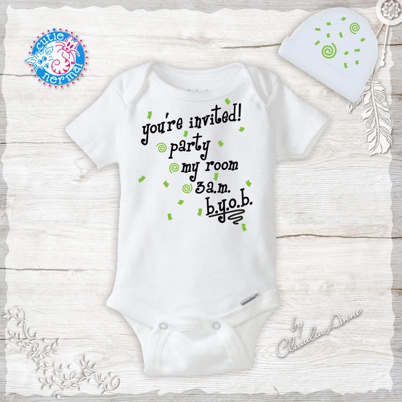 What Happened in Vegas Gerber® Onesie® FUNNY Baby Shower Gift INFANT T-SHIRT