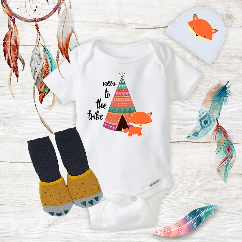 f818f9081 New To The Tribe Fox Onesies with Hat Claw Knee High Socks