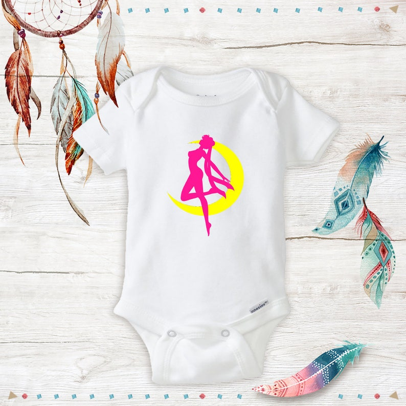 Baby Sailor Moon Onesies Baby Girl Or Baby Boy Clothes Etsy