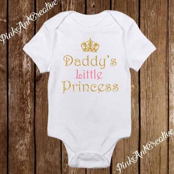 Daddy/'s Little Princess Pink Crown Cute Baby Grow Vest Girls Bodysuit Newborn