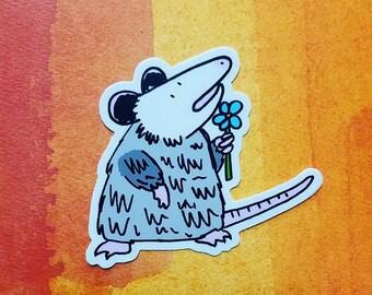 Possum Flower Sticker