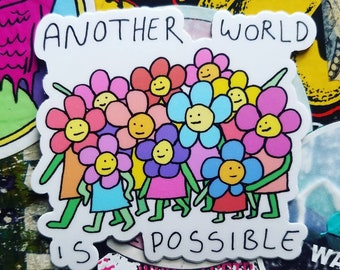 Another World is Possible Mutual Aid Sticker