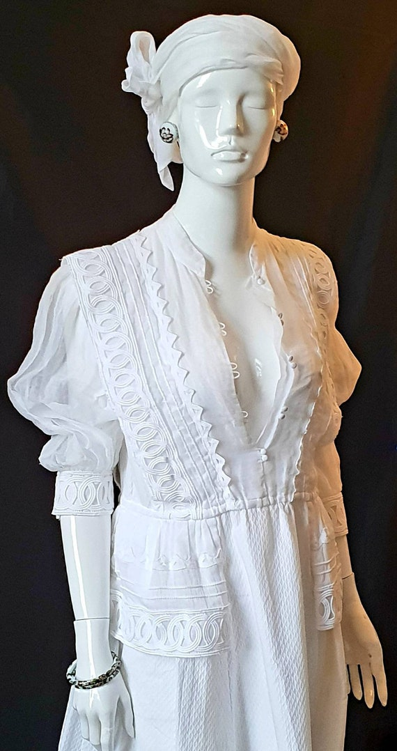 Vtg 70s PRUE ACTON White Finest Swiss Cotton, Org… - image 10