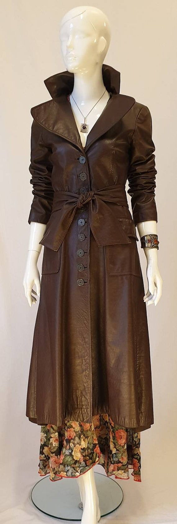 Vtg 70s Merivale Rich Chocolate Fit & Flare  Long