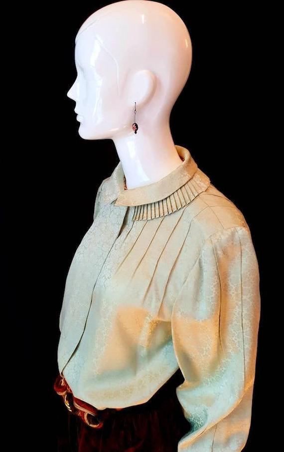 Vtg 70s André Laug Roma Finest Couture Pistachio S
