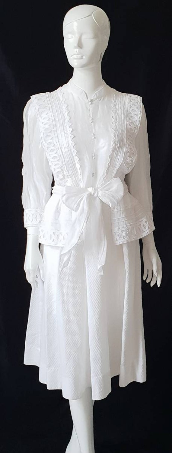 Vtg 70s PRUE ACTON White Finest Swiss Cotton, Org… - image 3