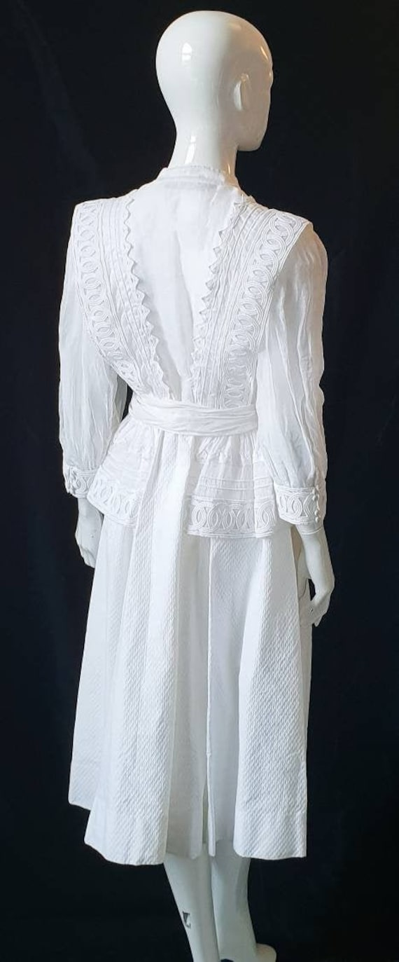 Vtg 70s PRUE ACTON White Finest Swiss Cotton, Org… - image 1