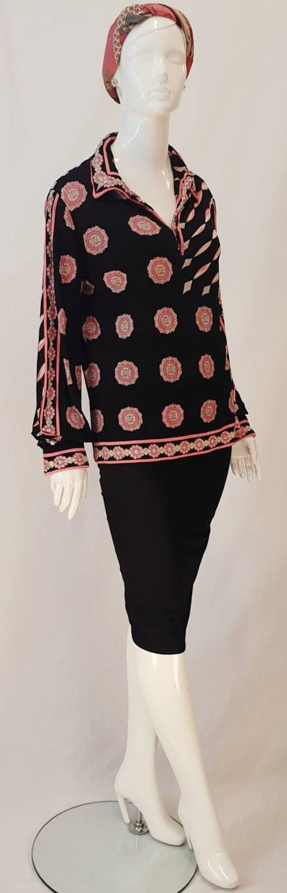 Vtg 60s EMILIO PUCCI Italy Fine Soft Silk Print Je